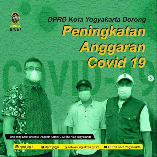 DPRD Kota Yogyakarta Dorong Peningkatan Anggran Covid 19