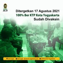 17 Agustus 2021 100% Ber KTP Kota Yogyakarta Sudah Divaksin