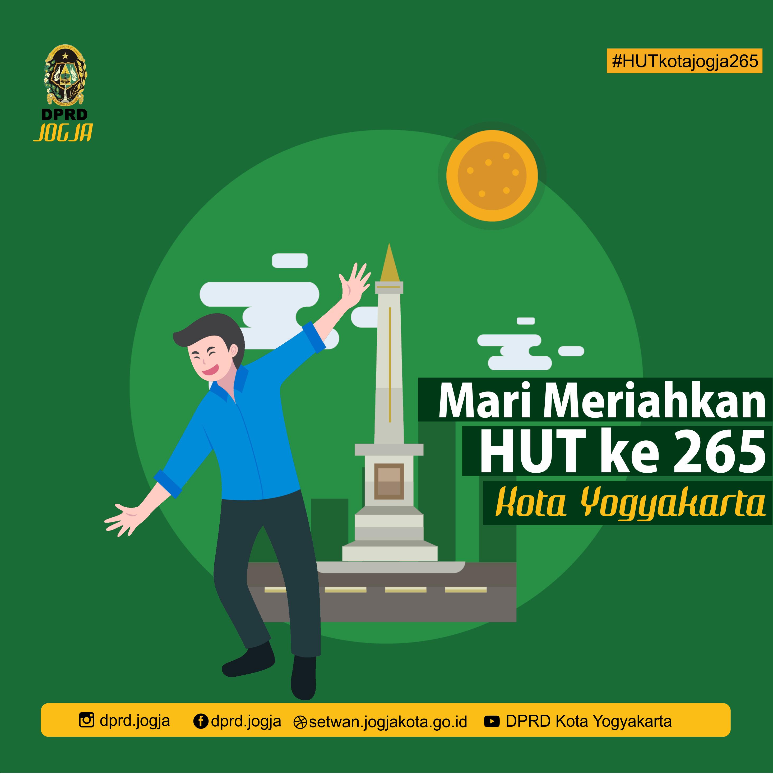 Mari Meriahkan Hut ke 265 Kota Yogyakarta