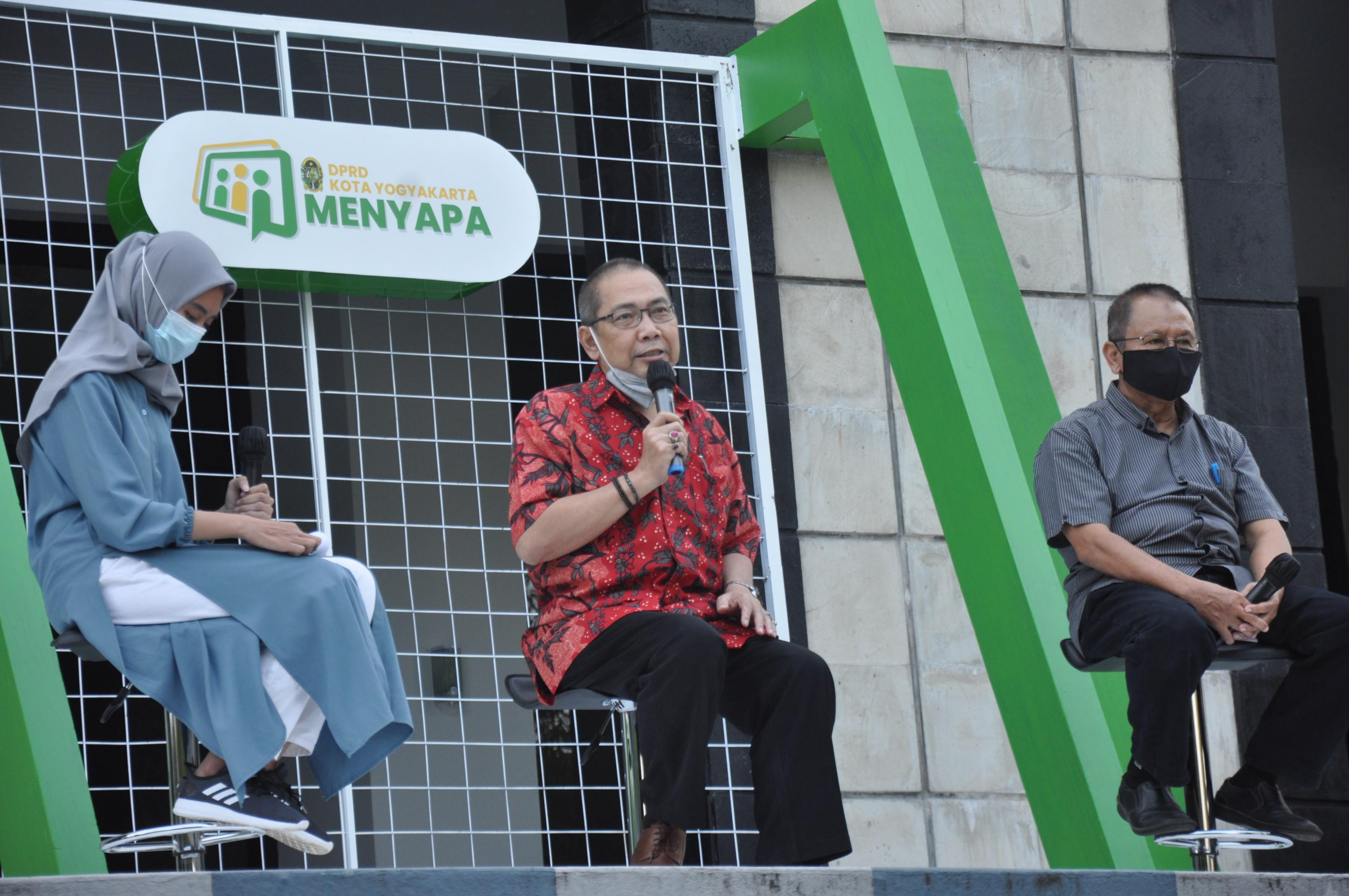 DPRD Kota Yogyakarta Menyapaa -Pengawasan Penanggulangan Covid 19 dan Pelaksanaan Vaksinasi Covid 19