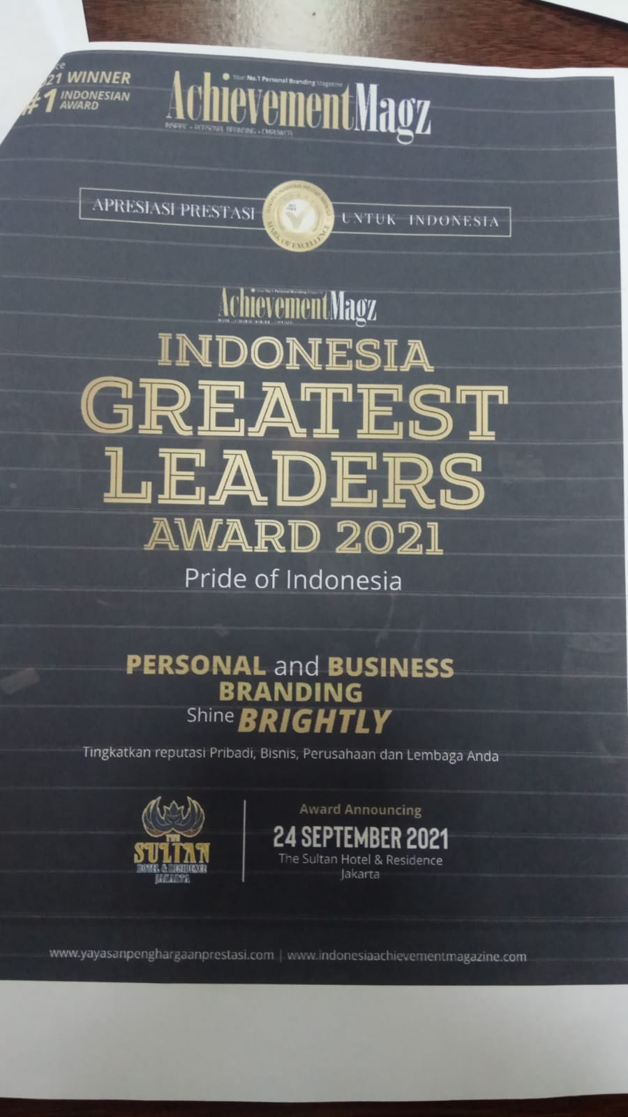 Penghargaan untuk Ketua DPRD Kota Yogyakarta